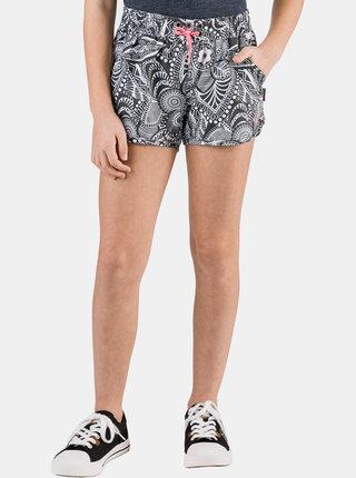 Bílo-černé holčičí vzorované šortky SAM 73