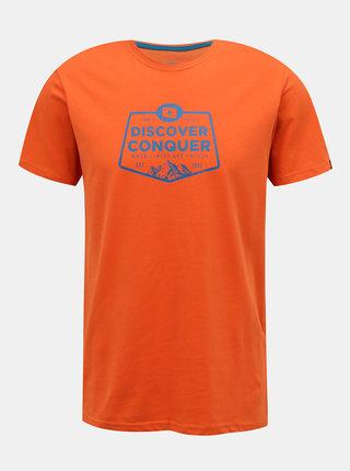 Oranžové pánske tričko s potlačou LOAP Anakin