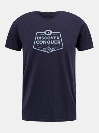 Tmavě modré pánské tričko s potiskem LOAP Anakin