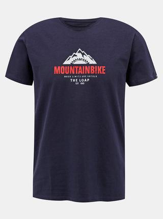 Tmavě modré pánské tričko s potiskem LOAP Andor