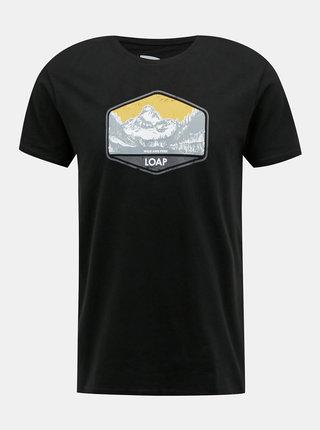 Černé pánské tričko s potiskem LOAP Bolter