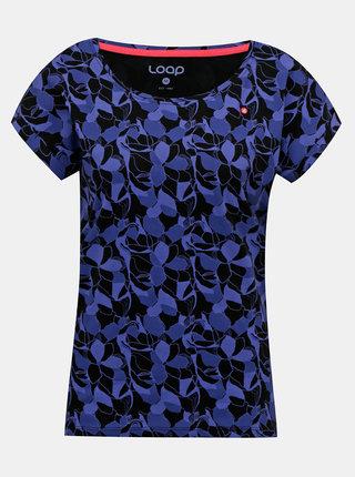Tmavomodré dámske vzorované tričko LOAP Babett