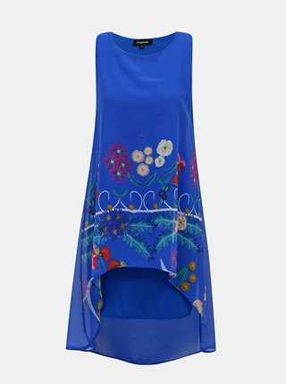 Modré kvetované šaty Desigual