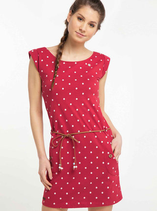 Červené puntíkované šaty Ragwear