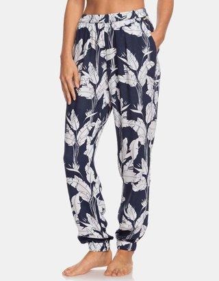Bílo-modré květované kalhoty Roxy