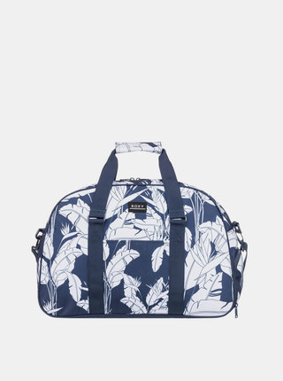 Modrá vzorovaná cestovná taška Roxy