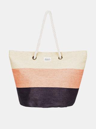 Černo-béžová plážová taška Roxy