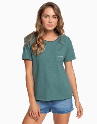 Zelené tričko s potiskem Roxy