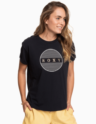 Černé tričko s potiskem Roxy
