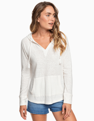 Bílé tričko s kapucí Roxy