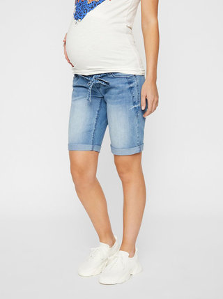 Modré těhotenské džínové kraťasy Mama.licious