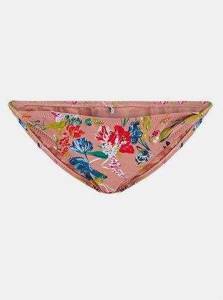 Starorůžový květovaný spodní díl plavek Pieces