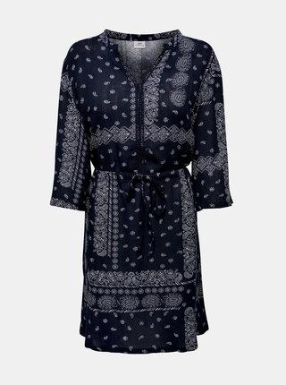 Tmavě modré vzorované šaty Jacqueline de Yong