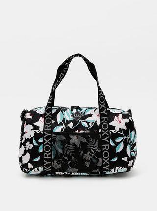 Čierna kvetovaná cestovná taška Roxy