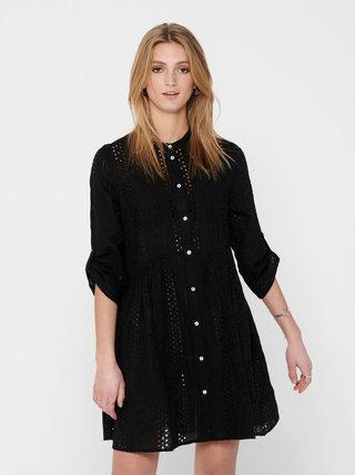 Černé vzorované šaty ONLY