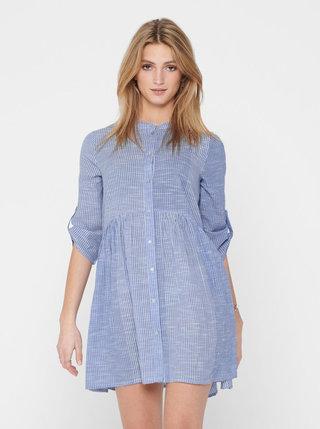 Modré pruhované šaty ONLY