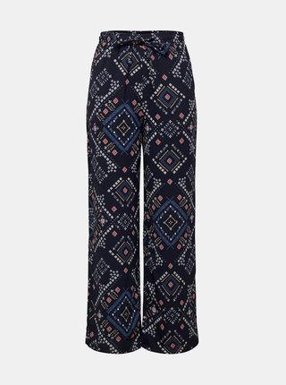 Tmavě modré vzorované kalhoty ONLY