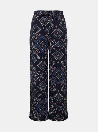 Tmavomodré vzorované nohavice ONLY