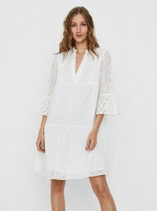 Bílé šaty s madeirou Noisy May