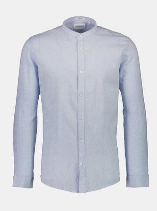 Světle modrá lněná košile Lindbergh