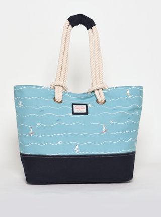 Modrá vzorovaná plážová taška Brakeburn