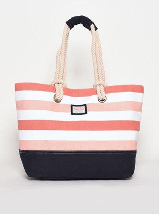 Ružová pruhovaná plážová taška Brakeburn