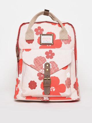 Růžový květovaný batoh Brakeburn