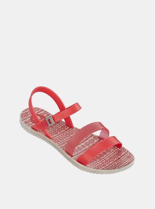 Sandale roz neon Zaxy cu barete subtiri