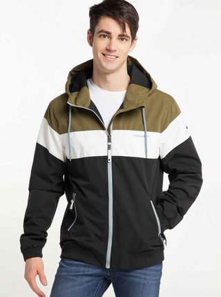 Zeleno-čierna pánska bunda Ragwear Jayce