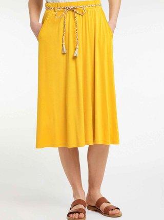 Horčicová sukňa Ragwear Reikko