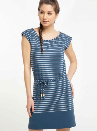 Modré pruhované šaty Ragwear Soho Stripes