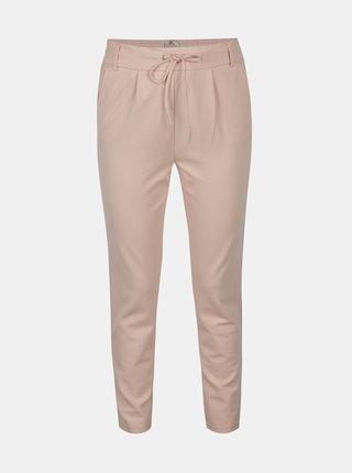 Pantaloni roz pal cu talie elastica - ONLY Poptrash