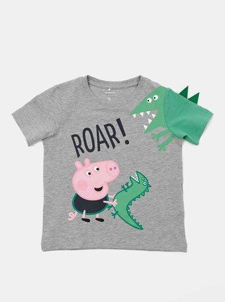 Šedé detské tričko name it