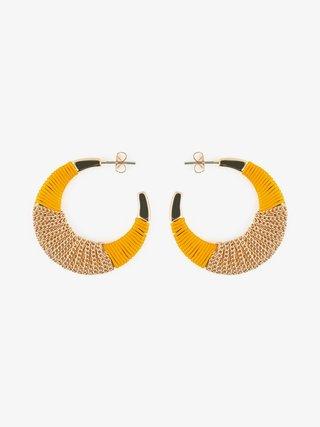 Žlto-zlaté náušnice Pieces Nura