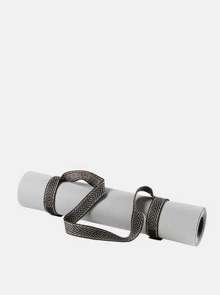 Čierna gumička na podložku na jógu prAna