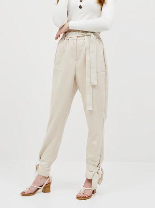 Béžové kalhoty AWARE by VERO MODA Kaisa