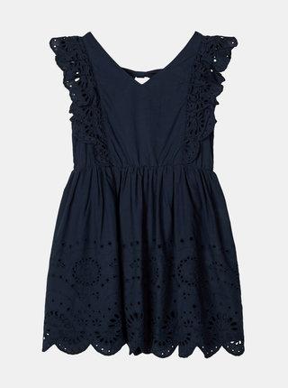 Tmavě modré holčičí šaty s madeirou name it Felicity