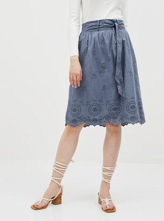 Modrá sukně s madeirou ONLY