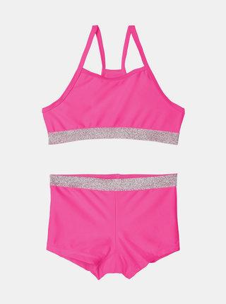 Růžové holčičí dvoudílné plavky name it Zilka