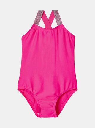 Růžové holčičí jednodílné plavky name it Zilka