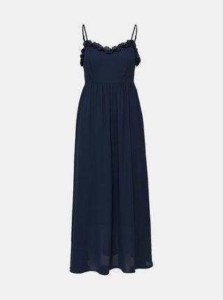 Tmavě modré maxišaty Selected Femme Fraya
