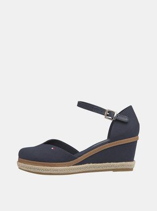 Modré sandálky na klínku Tommy Hilfiger