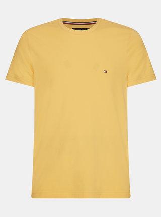 Žluté pánské basic tričko Tommy Hilfiger