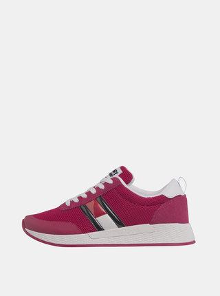 Růžové dámské tenisky se semišovými detaily Tommy Hilfiger