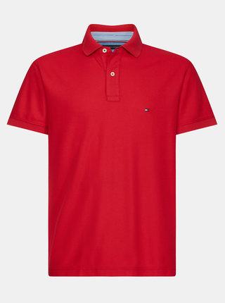 Červené pánské basic polo tričko Tommy Hilfiger