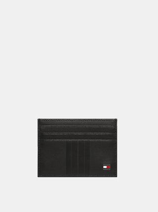 Černé kožené pouzdro na karty Tommy Hilfiger