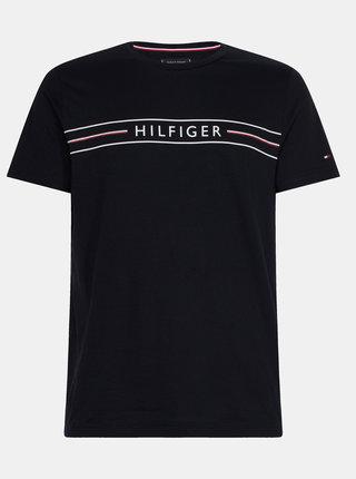 Čierne pánske tričko s potlačou Tommy Hilfiger