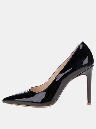 Pantofi negri din piele lacuita Högl