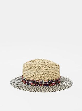 Béžový slaměný klobouk Pieces Nabiha