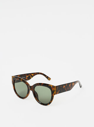 Hnedé vzorované slnečné okuliare Pieces Narika